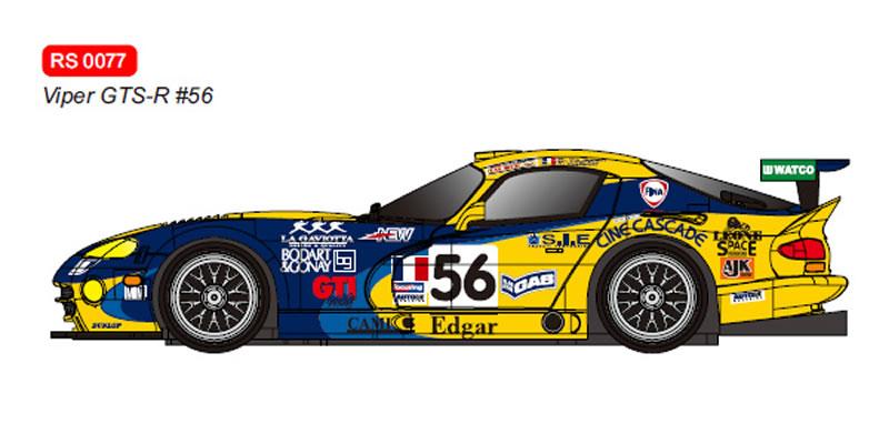 RevoSlot Dodge Viper GTS-R No.56 Le Mans 2001  Ref RS0077