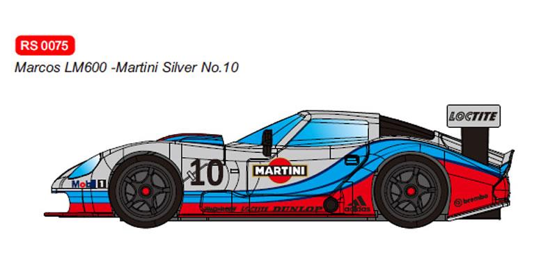 RevoSlot Marcos LM600 GT2 No.10 Martini Silver Ref: RS0075