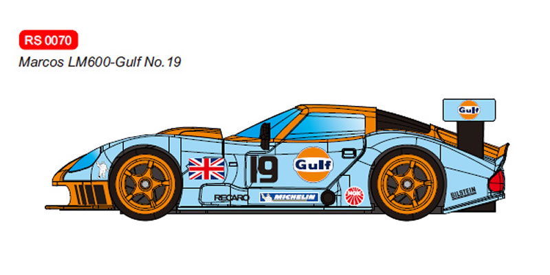 RevoSlot Marcos LM600 GT2 No.19 Gulf - Ref RS0070