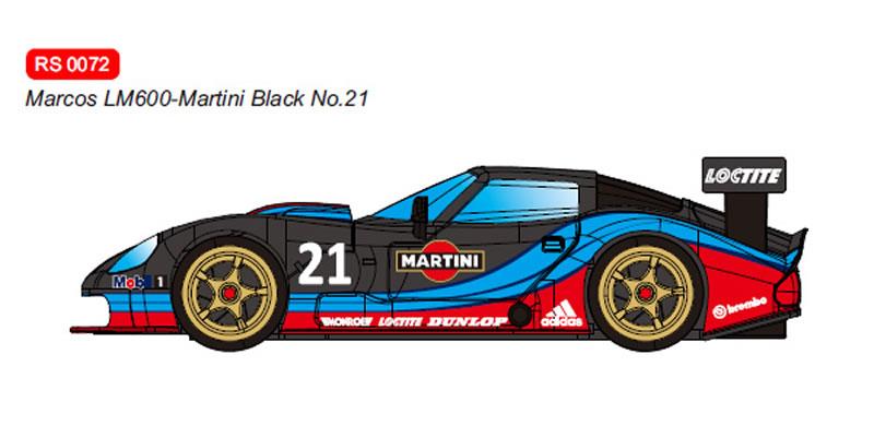 RevoSlot Marcos LM600 GT2 No.21 Martini Black Ref: RS0072