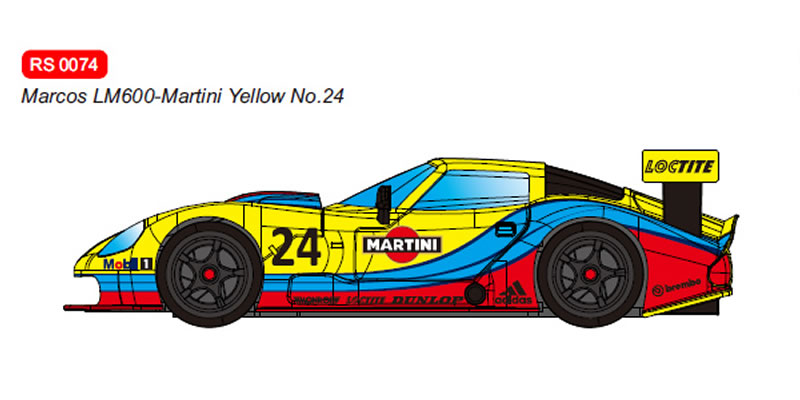 RevoSlot Marcos LM600 GT2 No.24 Martini Yellow Ref: RS0074