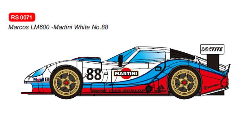 RevoSlot Marcos LM600 GT2 No.88 Martini White Ref: RS0071