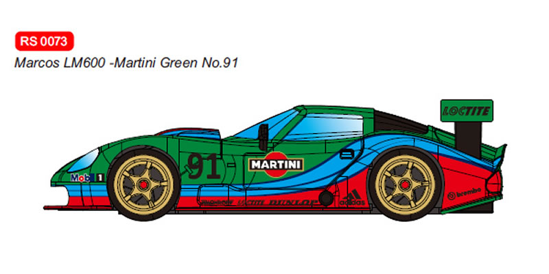 RevoSlot Marcos LM600 GT2 No.91 Martini Green Ref: RS0073