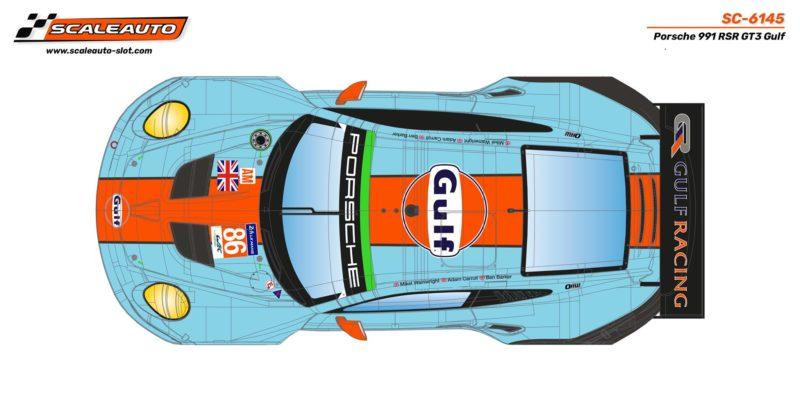 Scaleauto: la Porsche 911 GT RSR - Gulf Racing - 24h le Mans 2016