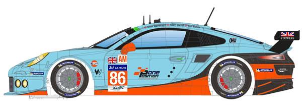 Scaleauto la Porsche 911 GT RSR - Gulf Racing - 24h le Mans 2016-3