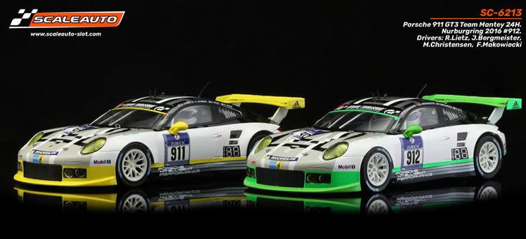 "Scaleauto: les Porsche 911 GT3 Team Mantey 24H. du Nurburgring 2016 – ""R-Series"""