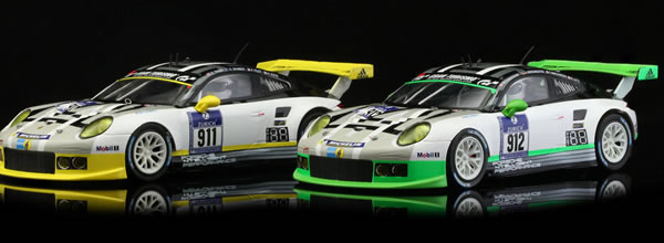 "Scaleauto: les Porsche 911 GT3 Team Mantey 24H. du Nurburgring 2016 - ""Home Series"""
