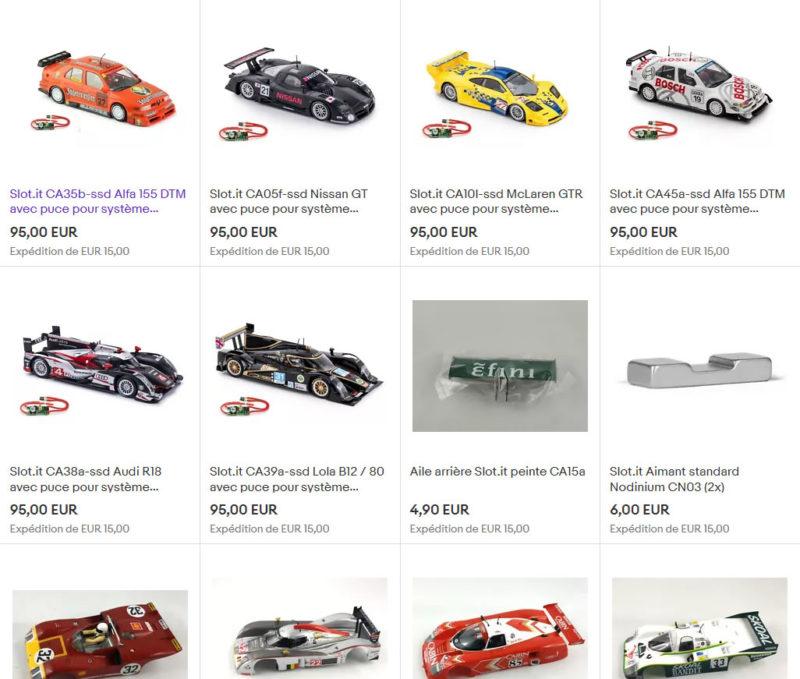 Slot.it et Policar sur ebay