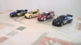 Lot de 5 voitures Burago et Saico pour décor dans circuit typé rallye