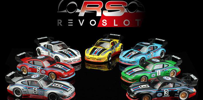 Revoslot: Sept Porsche 911 GT2 édition Martini Racing