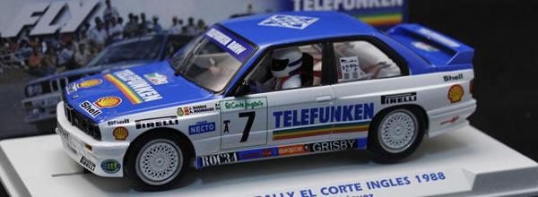 Fly Car Model  La BMW M3 E30 Rally El Corte Ingles 1988 - E2009