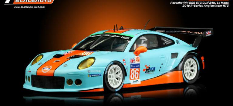 Scaleauto: la Porsche 911 (991) RSR GT3 Gulf 24H. Le Mans 2016 # 86 – SC-6145