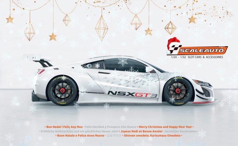 Scaleauto Une carte de vœux qui annonce une GT3