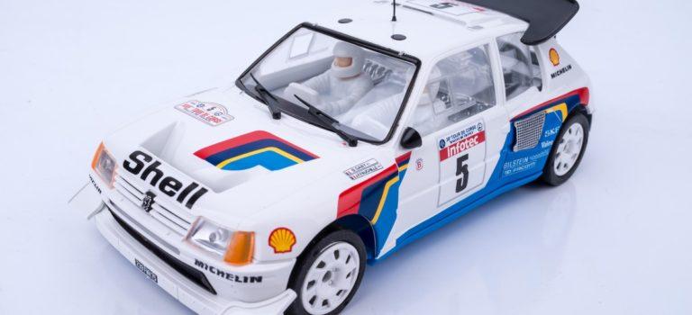 SRC: Réédition de la Peugeot 205 T16 # 5 de Bruno Saby – Tour de Corse 86