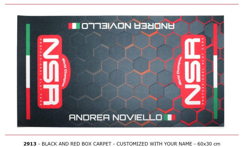 NSR-2913 - Box Carpet - Black& Red