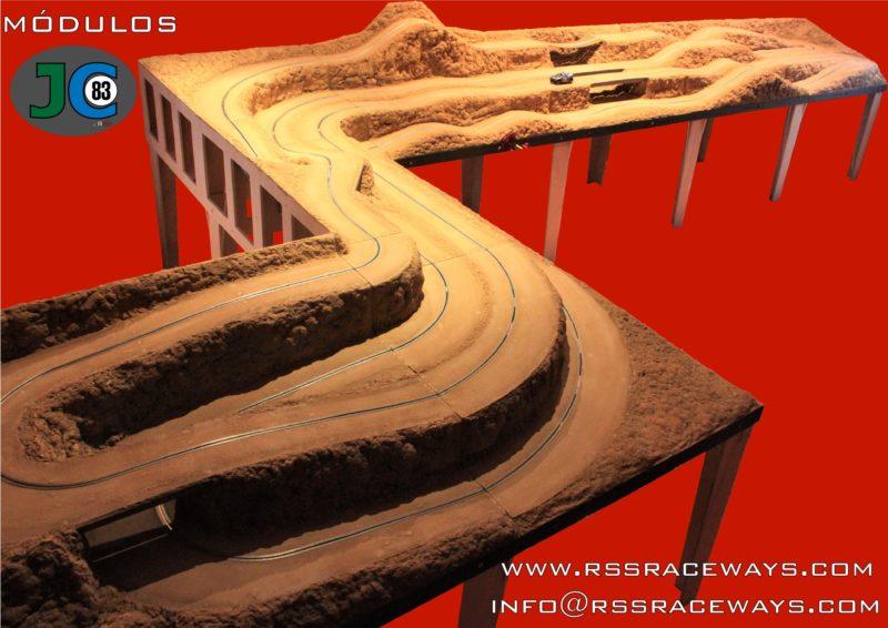 RSS Raceways Des modules pour créer des pistes de slot racing