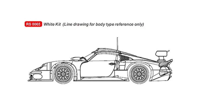 RevoSlot 0065 Porsche 911 GT1 White Kit