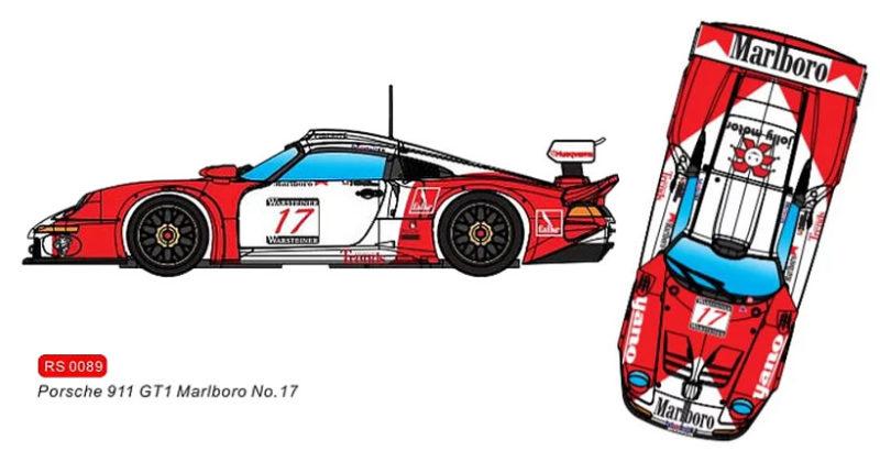 RevoSlot 0089 -  Porsche 911 GT1 Marlboro #17 - Marlboro Championnat FIA GT 1997