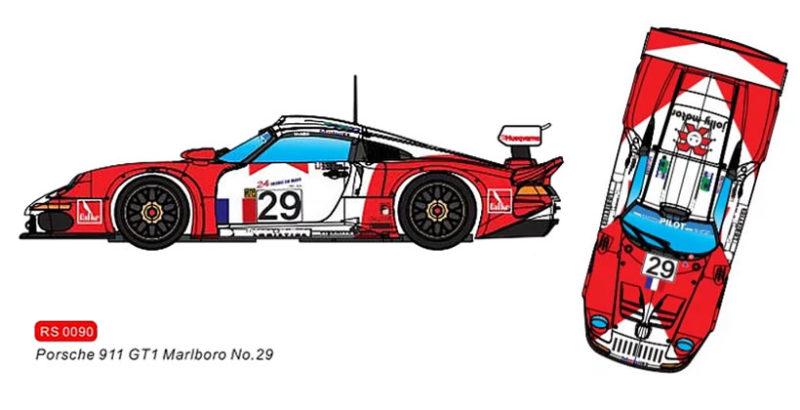 RevoSlot 0090 - Porsche 911 GT1 Marlboro #29 - Le Mans 1997