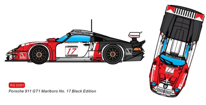 RevoSlot 0091 -  Porsche 911 GT1 Marlboro #17 - FIA Grand Touring Championship Nürburgring