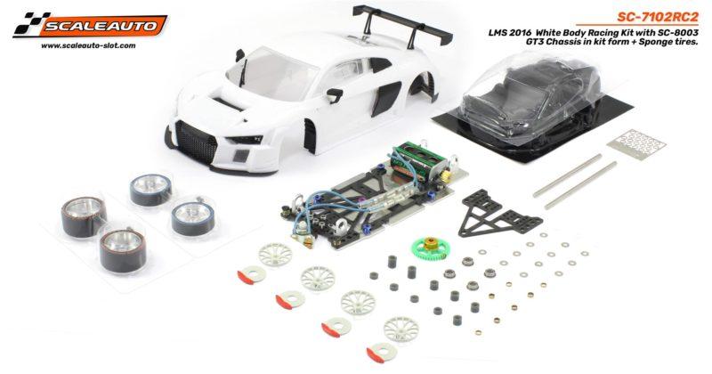 SC-7102 RC2 LMS GT3 1/24 White Racing Kit RC2.