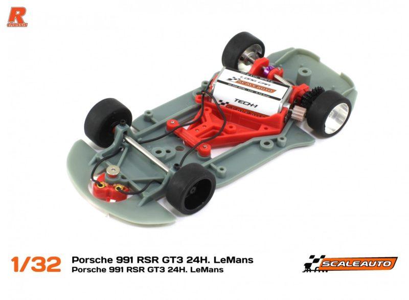 Scaleauto La Porsche 911 (991) RSR GT3 Team Gulf 24H. Le Mans 2016 - version R-Racing