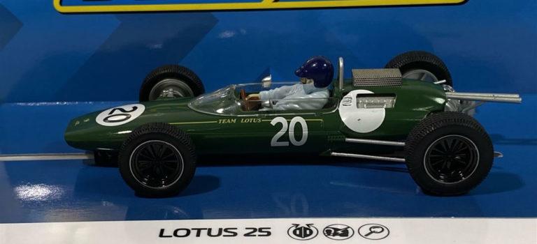 Scalextric: la Lotus 25 – GP de Grande-Bretagne 1962 – Jim Clark – C4195