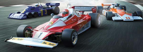 Scalextric le coffret McLaren M23, Ferrari 312T & Tyrrell P34 1976 British GP Triple Pack (2)