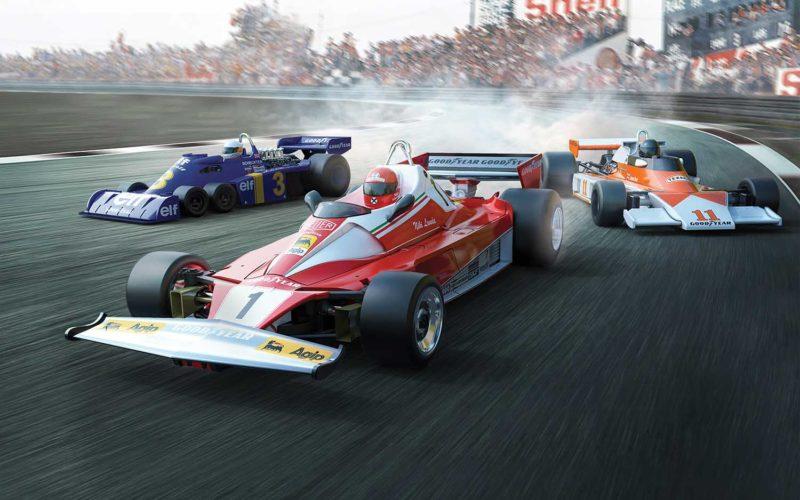 Scalextric le coffret McLaren M23, Ferrari 312T & Tyrrell P34 1976 British GP Triple Pack