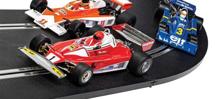 Scalextric: le coffret McLaren M23, Ferrari 312T & Tyrrell P34 1976 British GP Triple Pack