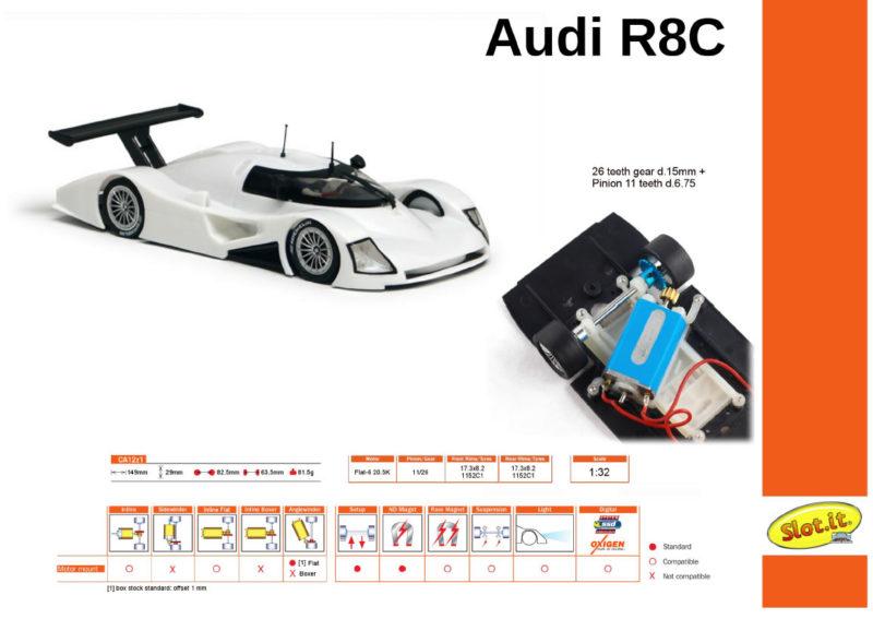 Slot.it Le kit blanc de  l'Audi R8C (CA12z1)