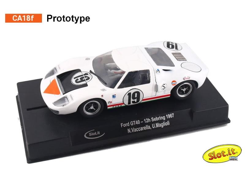 Ford GT40 - #19 12 h Sebring 1967 - N. N Vaccarella, U. Maglioli - CA19f