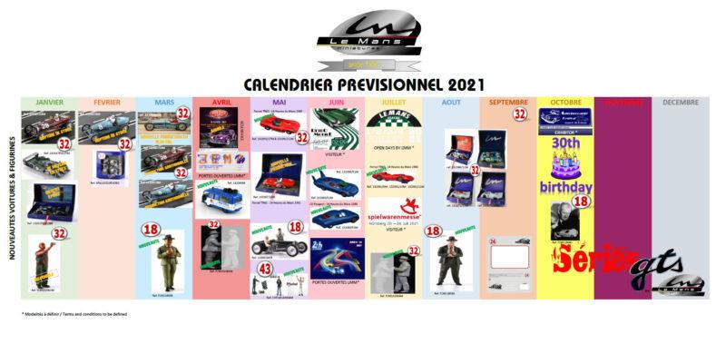 Le Mans miniatures: le calendrier prévisionnel 2021