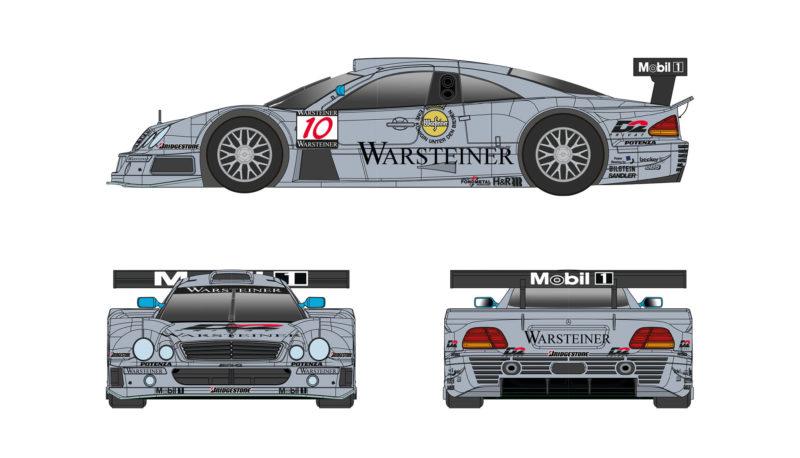Mercedes CLK GTR del Team AMG #10