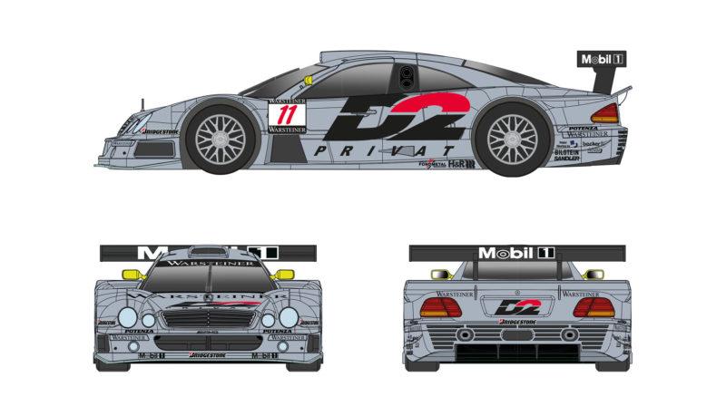 Mercedes CLK GTR del Team AMG #11