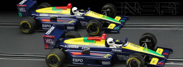 NSR: les deux F1 86/89 Blue Toshiba #29 et #30