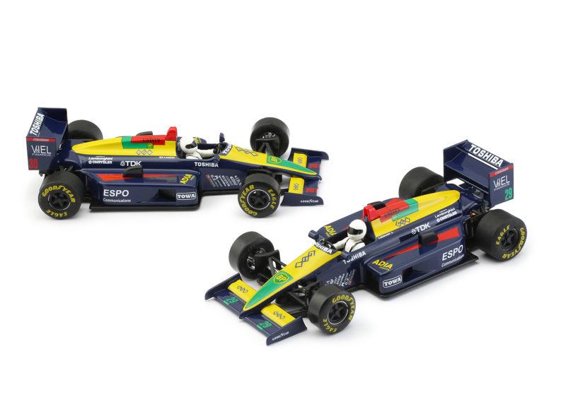 NSR les deux F1 8689 Blue Toshiba #29 et #30