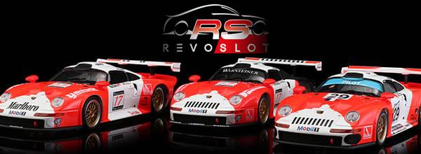 Revoslot : les photos des trois Porsche 911 GT1 JB Racing Marlboro