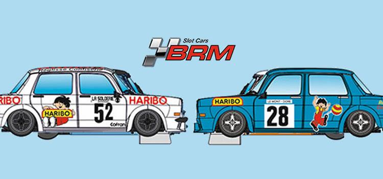 BRM: Deux Simca 1000 «Haribo» championnat de France des Montagnes 1978.
