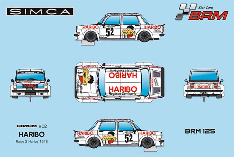 BRM125 - Simca Rallye #52 - Championnat de France des Montagnes - Haribo - H.Vuillermoz 1978