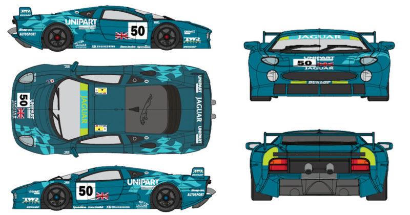 Jaguar XJ220 Racing Unipart # 50 24H. LeMans 1993 - mr-1082-01