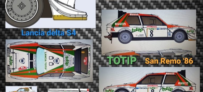SRC:  La Lancia Delta S4 – TOTIP – San Remo '86 – Dario Cerrato