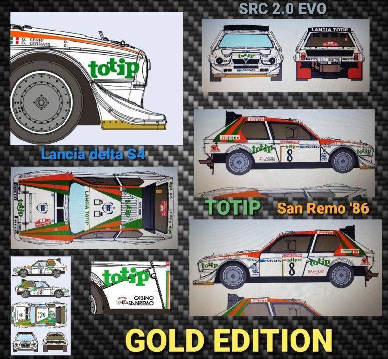 SRC  La Lancia Delta S4 - TOTIP - San Remo '86 - Dario Cerrato