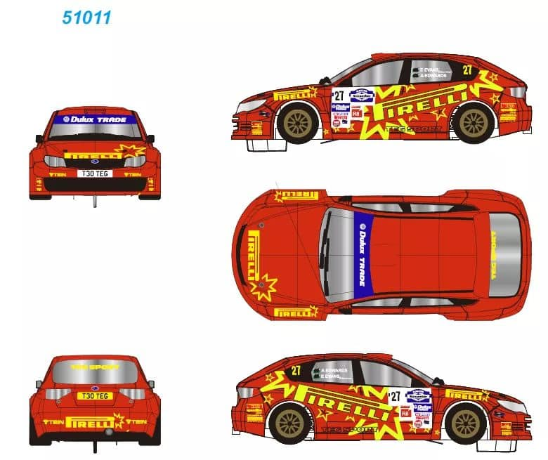 Subaru Impreza STI - Pirelli - Rallye Sunseeker International 2011