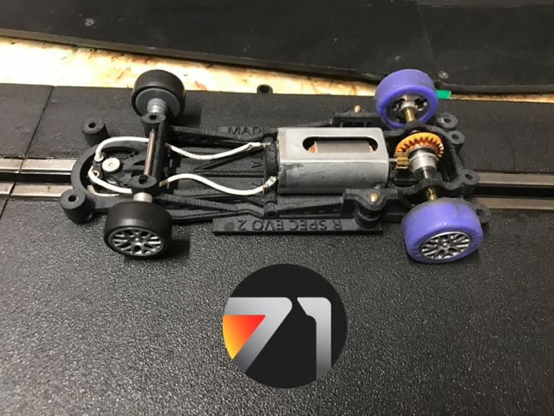 The Area71 Le chassis R-Spec pour ses slot cars