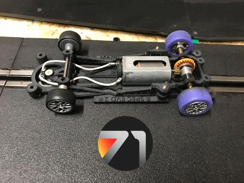 The Area71: Le châssis R-Spec pour ses slot cars