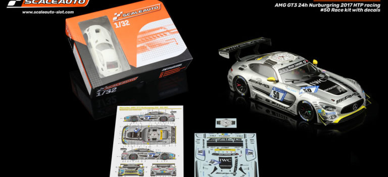 Scaleauto: le Kit de course de la MB-A GT3 24h Nurburgring 2017 HTP Racing # 50