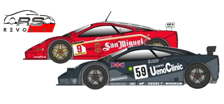 Revoslot: Deux McLaren F1 GTR 1/32 en préparation pour le slot racing.