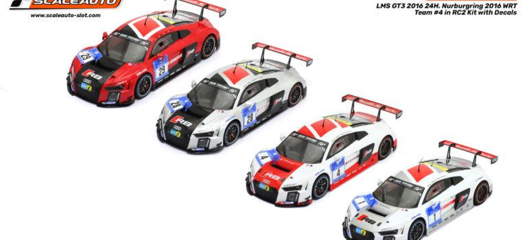 Scaleauto: les quatre Audi LMS GT3 Team WRT 2015 – 1/24