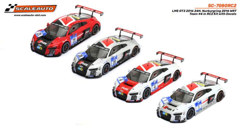 Scaleauto: les quatre Audi LMS GT3 Team WRT 2015 - 1/24